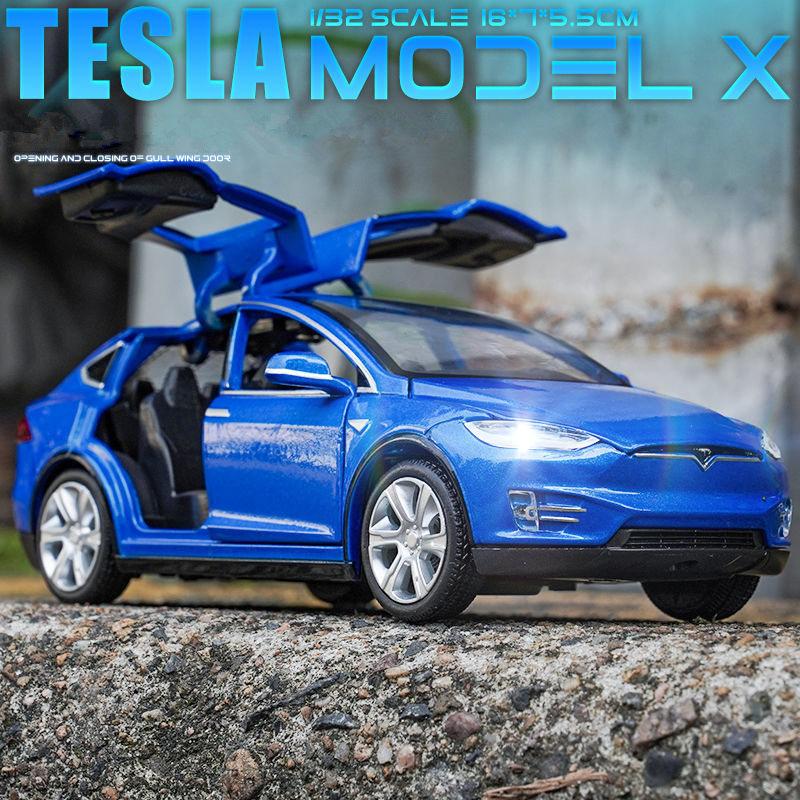 Новая модель Tesla 1:32, модель X, модель S 3, модель автомобиля из сплава, Литые и игрушечные автомобили, игрушечные автомобили, бесплатная достав...