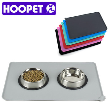 HOOPET Waterproof Pet Mat For Dog Cat Solid Color Silicone Pet Food Pad Pet Bowl Drinking Mat Dog Feeding Easy Washing 1