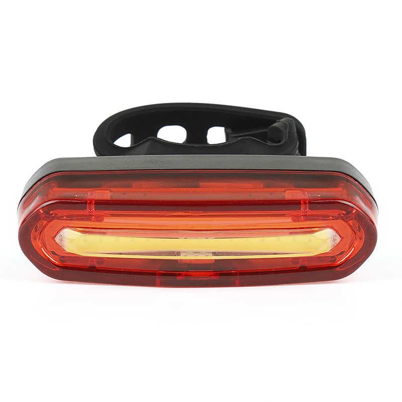 Fahrrad Rücklicht Wasserdicht LED USB Lade Mountainbike Radfahren Licht Rücklicht Outdoor Nacht Reiten Warnung Fahrrad Licht