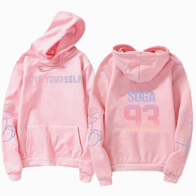 jungkook Unisex hoody kpop suga93 hoodies love KPOP weatshirt love yourself KPOP hoody sweatshirt  harajuku hoodies 3