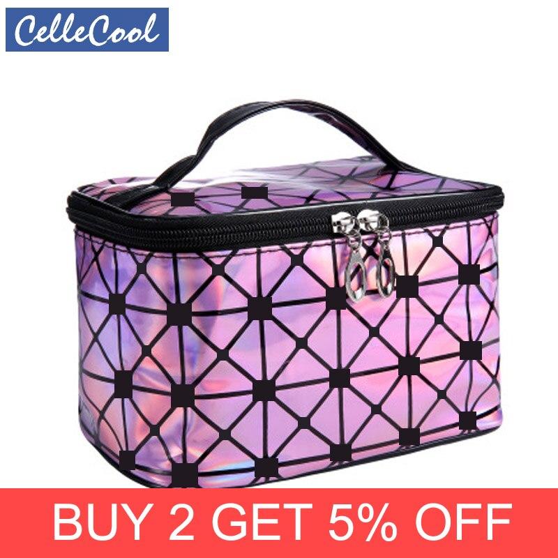CelleCool Multifunction Travel Cosmetic Bag Women Makeup Bags Toiletries Organizer Waterproof Female SStorage Make Up Cases