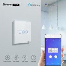 Itead SONOFF TX UK сенсорный переключатель Wifi настенный светильник переключатель T0UK беспроводной умный пульт дистанционного управления через приложение e WeLink работает с Alexa работать с Алиса