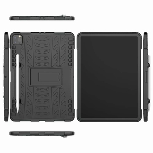 Image 3 - Defender Stand TPU PC Shockproof Protective Silicone Plastic Armor Case For iPad Cover Mini Air 1 2 3 4 5 6 Pro 9.7 10.5 11 10.2