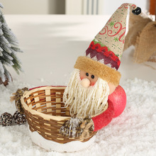 Candy Box Decoration Supplies 1 Pcs Christmas Imitation Bark Basket Stereo Old Man Doll Gift Storage Decor