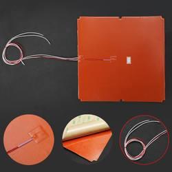 330x330mm 750W Upgrade silikon dla Tronxy X5S 3D drukarki ciepła łóżko silikonowe elektryczne podkładki grzewcze taśma termiczna mata na łóżko w Elektryczne poduszki grzewcze od Dom i ogród na