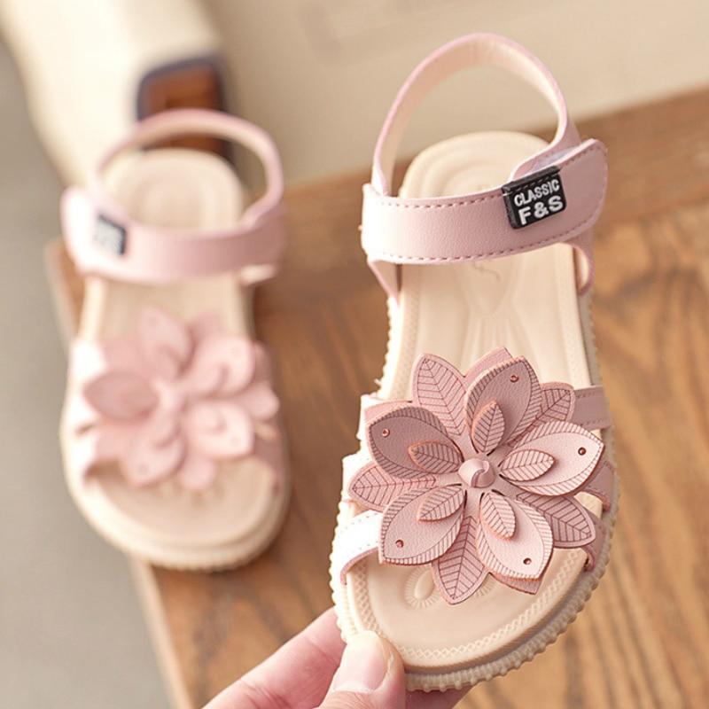 ULKNN Girls Sandals Summer Hot Children Rain Shoes Big Girls Beach Sandal Kids Shoes PVC Sandal  Cheap Primary School Student