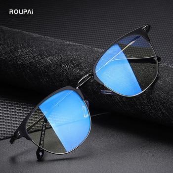 ROUPAI anti blue light glasses for men women computer gaming radiation ray blocking blocker Goggles eyeglasse - discount item  55% OFF Eyewear & Accessories
