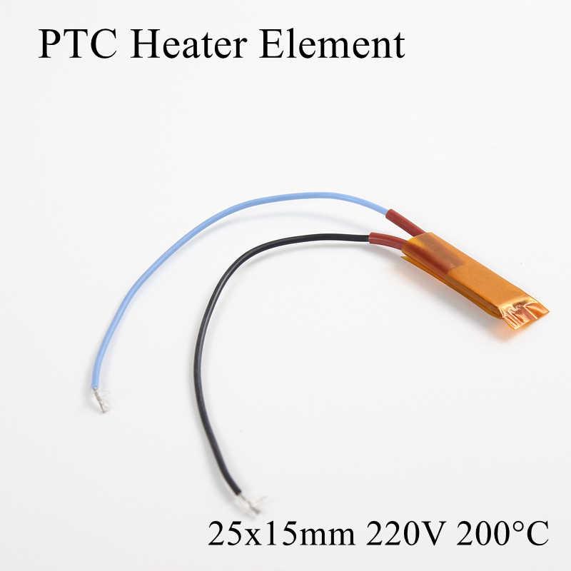1pc 25x15mm 220V 200 Grad Celsius PTC Heizung Element Konstante Thermostat Isolierte Thermistor Keramik Air heizung Platte Chip