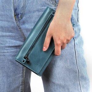 Image 2 - Joyir 本革の女性の財布多機能 rfid 財布ブランド財布 carteira ファッション女性カードホルダー財布電話バッグ