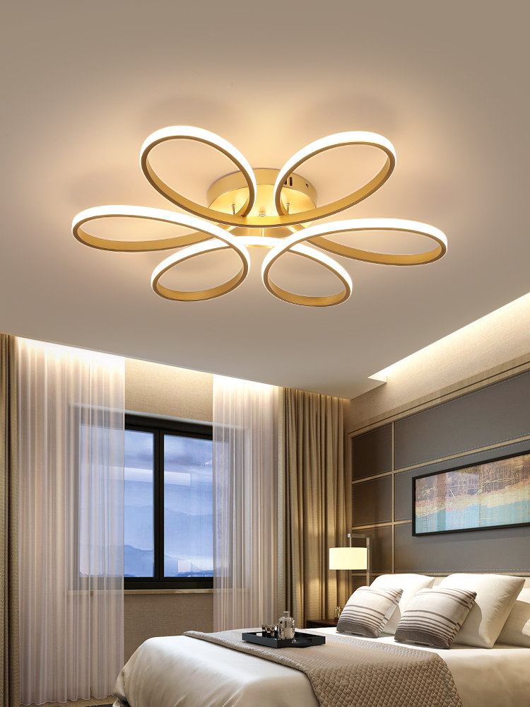 Chandelier-Lighting Remote-Control Led Indoor-Lamp Lampadario Lustre Bedroom Living-Room