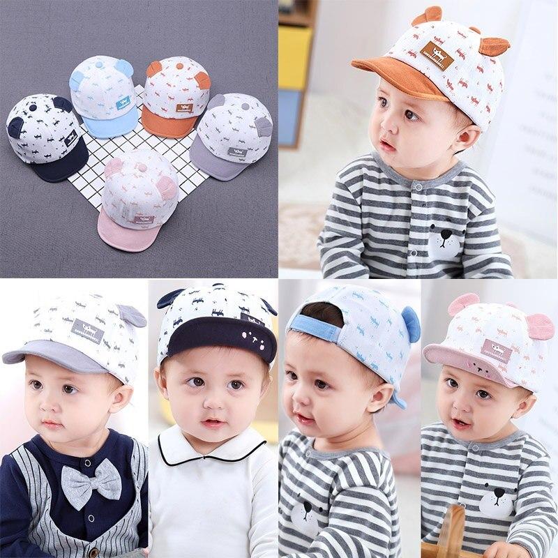 Cotton Baby Newborn Boys Girls Soft Hat Infant Caps Winter Autumn Striped