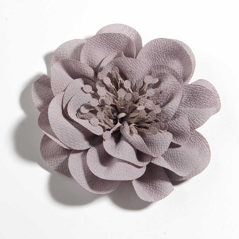 """1PC 10CM 3,8 """"Große Neue Chiffon Blumen Mit Haar Clips Für Mädchen Kinder Kopf Zubehör Sunflower Handmade blume Für Tuch"""