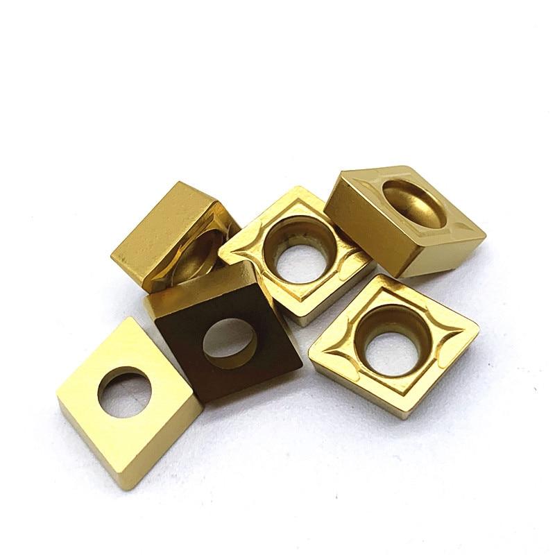 Купить с кэшбэком 10PCS CCMT09T308 VP15TF/UE6020/ US735 Internal Turning Tools Carbide inserts Cutting Tool CNC Tools Lathe tools Lathe cutter