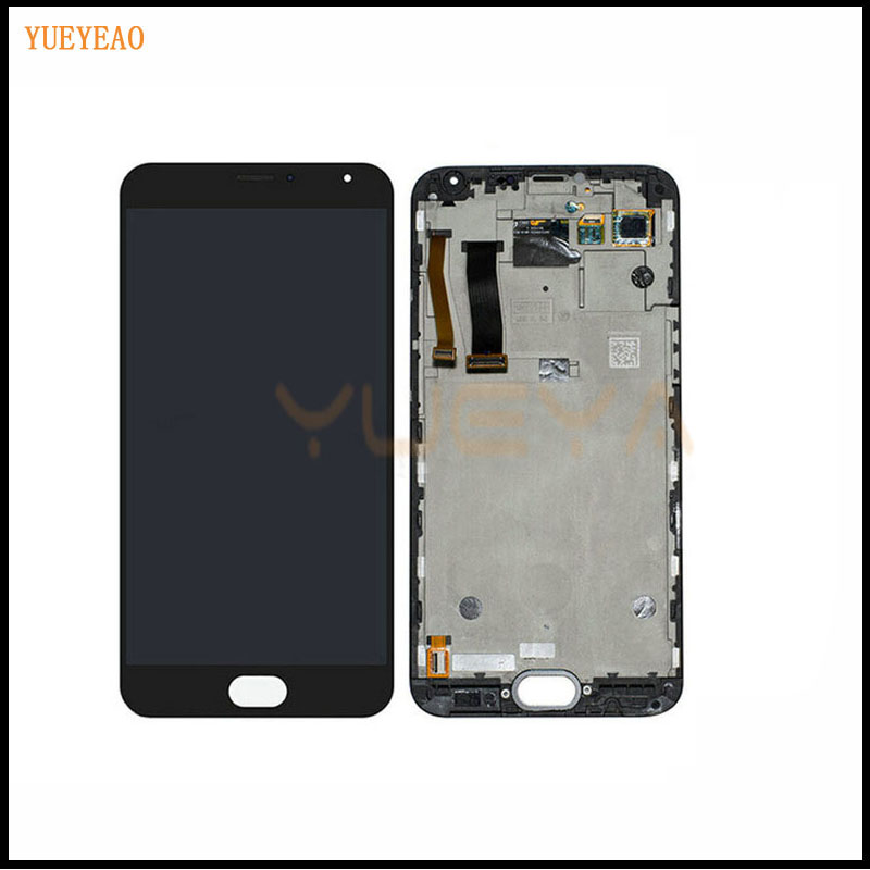 YUEYAO <font><b>LCD</b></font> For <font><b>Meizu</b></font> <font><b>MX5</b></font> <font><b>LCD</b></font> <font><b>Display</b></font>+<font><b>Touch</b></font> <font><b>Screen</b></font> With frame <font><b>LCD</b></font> Assembly Repair Parts 5.5 Inch Replacement Mobile Accessories image
