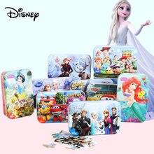 Disney 3d quebra-cabeça/congelado 2 puzzle 60 peças crianças brinquedo educativo quebra-cabeça de madeira mickey minnie quebra-cabeça aisha crianças quebra-cabeça