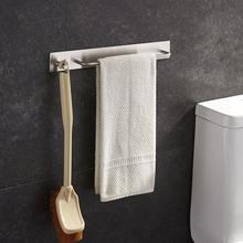 Towel Rack With Hooks Stainless Steel Hanging Bathroom Holder Bar Kitchen Wall-Mounted Dryer