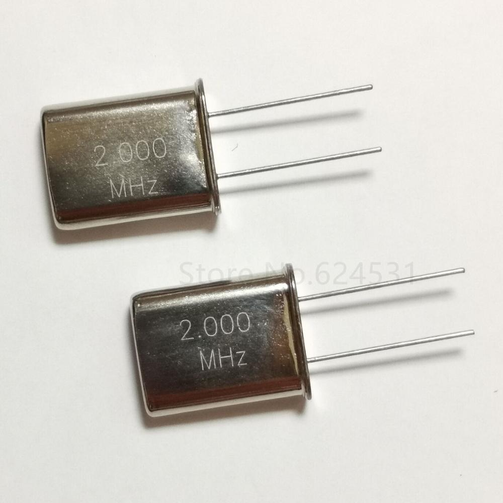 10pcs Crystal Inline Passive Crystal 2 Foot HC-49U 49U Low Frequency 2.000MHZ 2MHZ 2.000M 2M Resonator