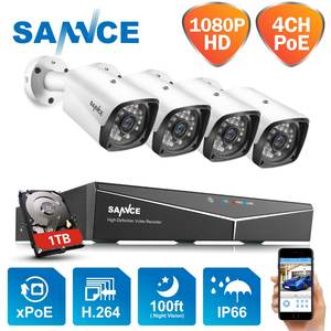 SANNCE Surveillance-Set Ip-Camera Cctv-Security-System Paly-Video POE HDMI Outdoor Waterproof