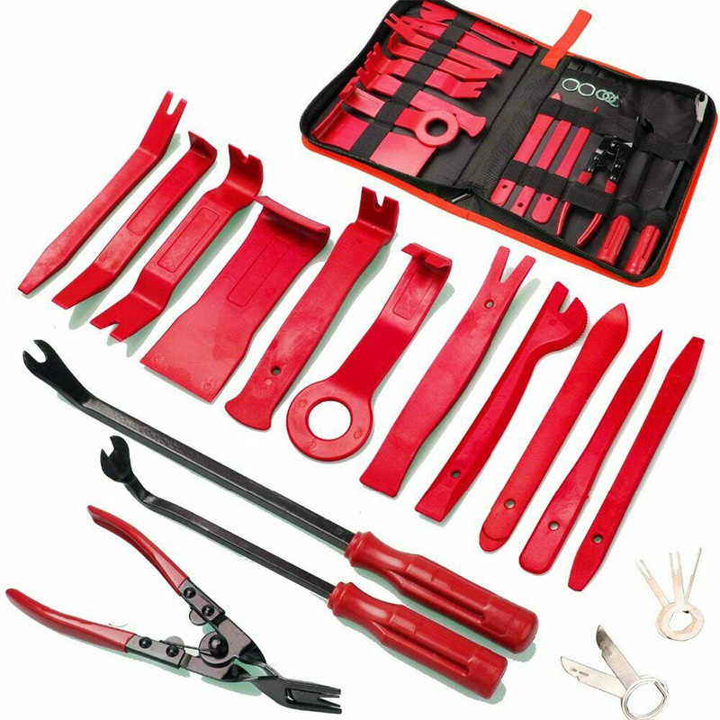 Newest Car Audio Removal Disassembly Tool Set Open Install Repairing Pry Tool Kit  Plastic Pry Plates, Pliers, Screwdriver