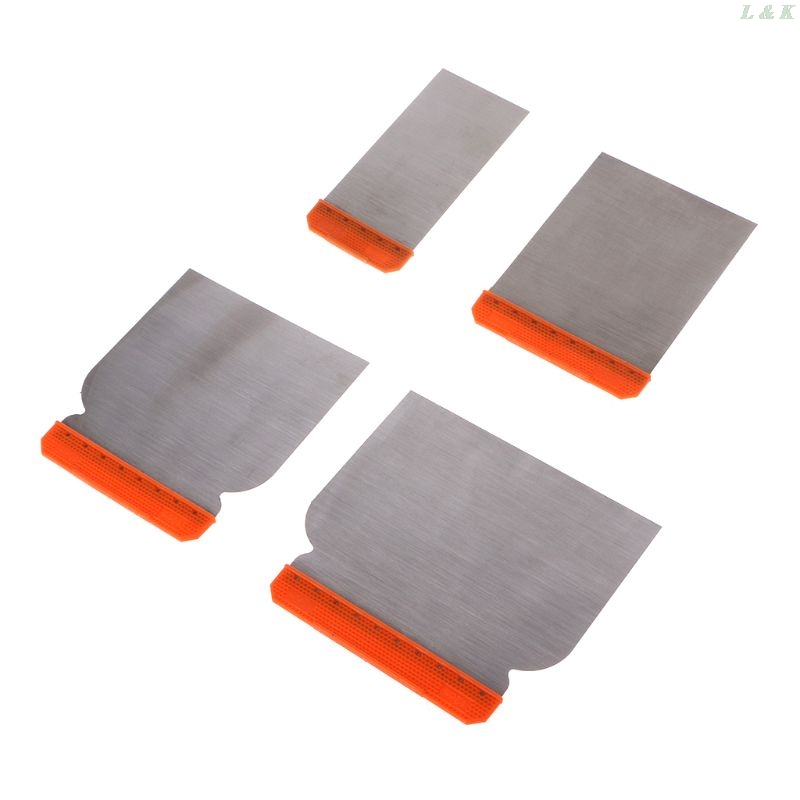4pcs Carbon Steel Putty Knives Kit Durable Scraper Putty Cleaning Filling Tool U50A