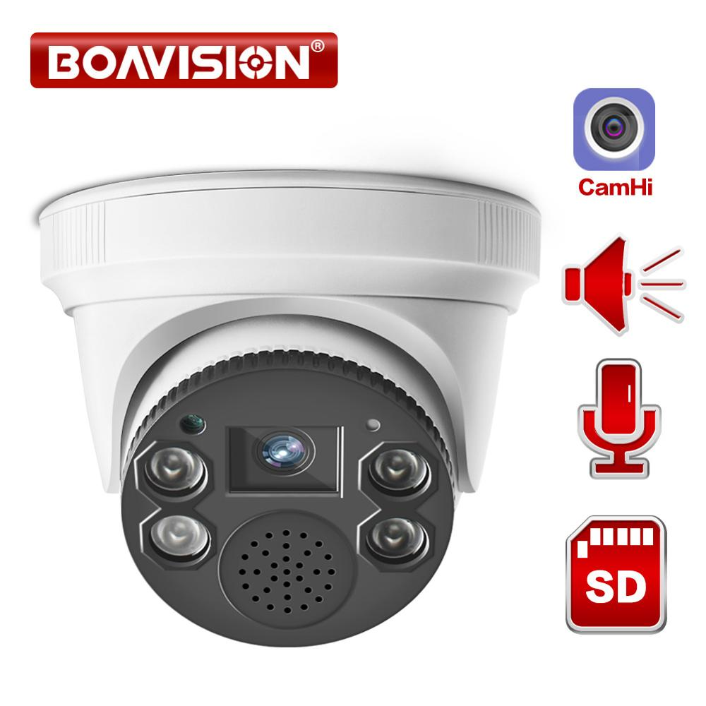 Wireless Wifi IP Camera 1080P ONVIF Indoor Dome 2.0MP Security Camera Two Way Audio TF Card Slot Night Vision 20m P2P APP CamHi