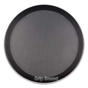"""Image 3 - Pour 10 """"pouce épaissi voiture haut parleur Conversion Net couverture décorative cercle métal maille Grille Protection"""