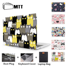 MTT mignon dessin animé ordinateur portable étui pour macbook Air 11 13 Pro 13 15 Retina barre tactile en plastique couverture rigide pour Mac book 12 13.3 ''Funda(China)