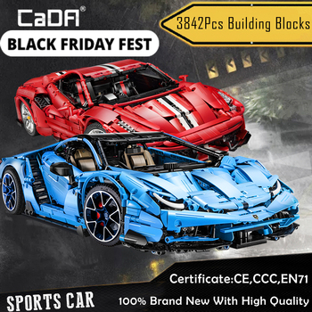CADA Brick Sport Vehicle Building Blocks,1:8 Scale Lamborghinis City Technic Racing Car Toy Kids Gift DIY Master MOC 39933 Thijs image