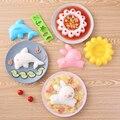 4PCS Schlag Sushi Form Bunny Delphin Reis Form Bento Reis Ball Küche DIY Sushi Set Bento Zubehör Küche Gadgets