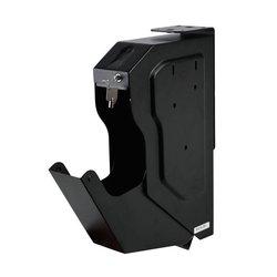البيومترية بصمة صندوق الأمان المدرفلة على البارد الصلب الأمن بندقية قوي صندوق محمول مفتاح الأشياء الثمينة صندوق تخزين المجوهرات