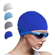 Swimming Glasses Swim Caps Set Silicone Long Hair Women Large Hat Swim Goggles Men Natacion Diving Equipment for Adults Children