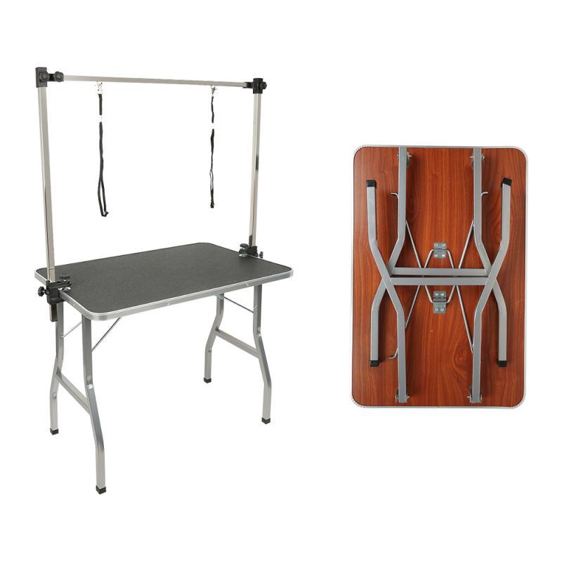 92*62*12cm Pets Grooming Bracket with Sling Adjustable Steel Suspender Grooming Table Arm Support Dog Cat shower for Bath Desk