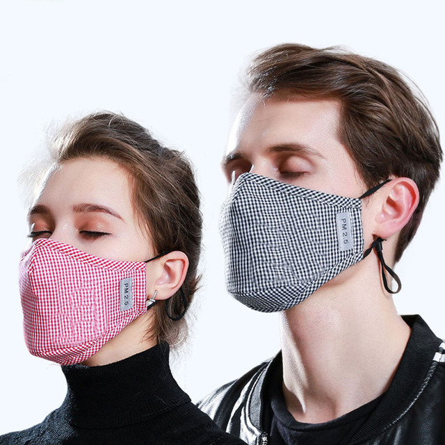 PM2.5 Mouth Mask High Quality Cotton Anti Dust Mask Activated Carbon Filter Windproof Mouth-muffle Bacteria Proof Flu Face Masks 5