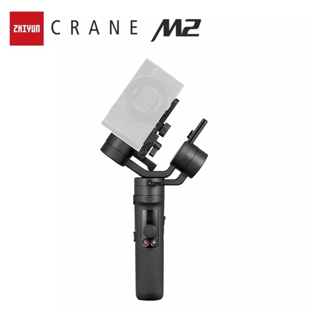 ZHIYUN Official Crane M2 Camera Gimbals for Compact Mirrorless Action Cameras Phone Smartphones Handheld Stabilizer for Sony