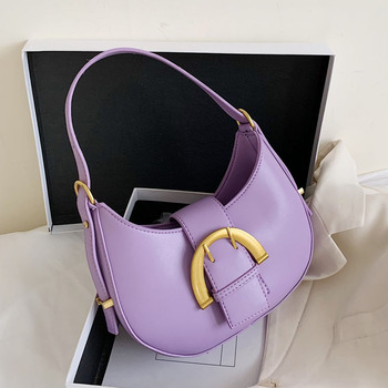 Small PU Leather Armpit Bag Lady Crossbody Bags Women 2020 Summer Solid Color Shoulder Handbags Female Cross Body Bag