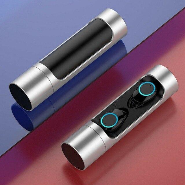 Écouteurs stéréo TWS Bluetooth 5.0, Mini oreillettes sans fil, étanches, avec boîte de chargement