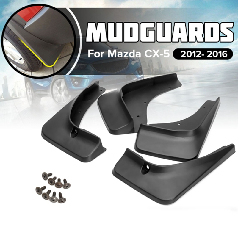 Fit for <font><b>Mazda</b></font> Cx-5 <font><b>Cx5</b></font> 2012 2013 2014 <font><b>2015</b></font> <font><b>2016</b></font> Mud Flap Flaps Mud Flaps Guard Front Rear Mudguards Splash Fender Molding 4Pcs image