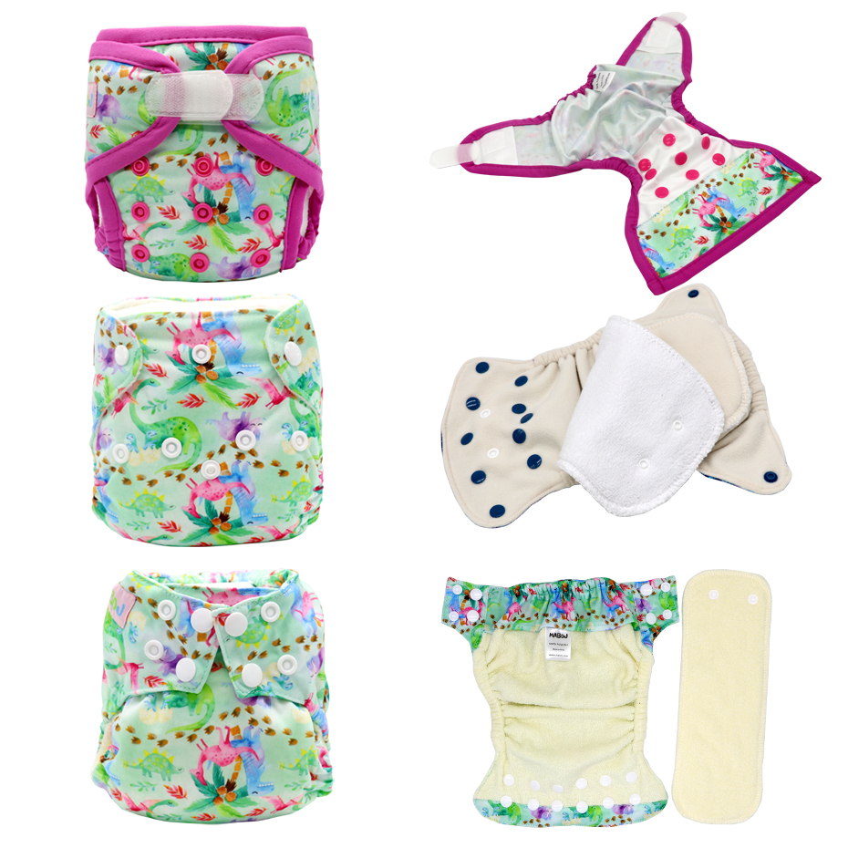 MABOJ Newborn Cloth Diaper Cover AI2 AIO Cloth Nappies Bamboo Cloth Diapers Stay Dry Solution Waterproof Comfortable Resuable