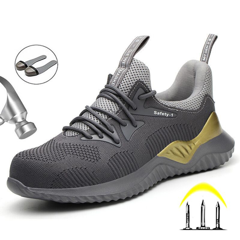 Yuxiang Outdoor Sneakers Men Mesh Shoes Lightweight Safety Shoes Indestructible Safety Shoes With Steel Toe Steel Boots