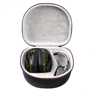 Image 2 - Hard EVA Case for Both Howard Leight By Honeywell Impact Earmuff and Genes accommodating headphones and glasses(only case)
