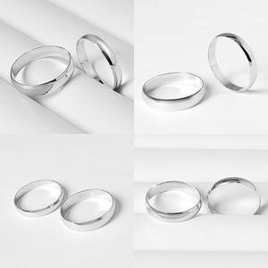 Image 5 - Eenvoudige Huwelijk Engagement Ring 100% 925 Massief Zilveren Paar Ring Vrouw & Man Enkele Ring Groothandel Massief Zilveren Sieraden Gift
