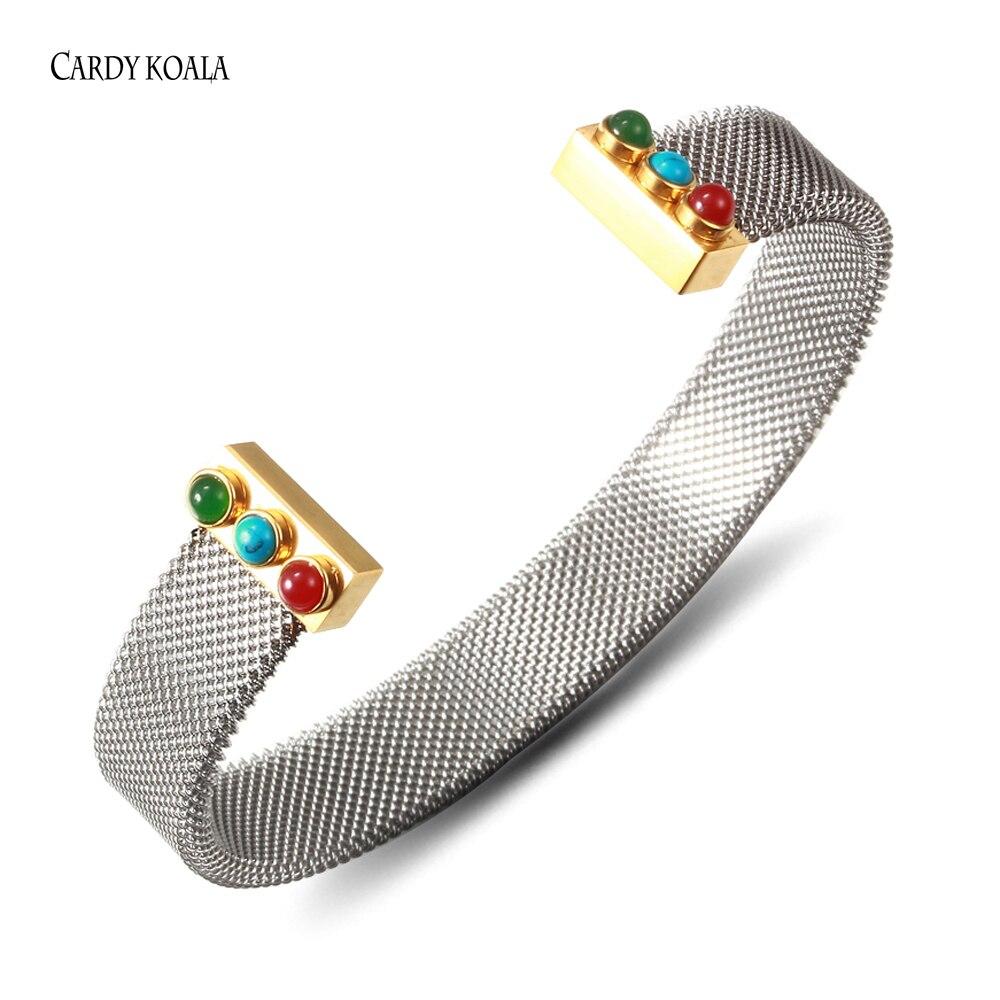 Gold Color Mesh Bracelet...