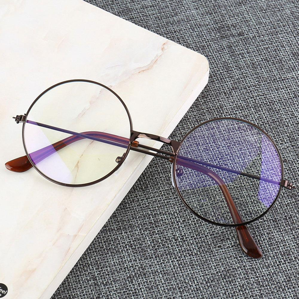Vintage Glasses Frame Man Woman Round Lens Glasses Transparent Metal Eyeglass Frame Black Silver Gold Spectacles Eyeglasses