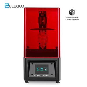 ELEGOO Mars UV Photocuring LCD 3D Printer with 3.5'' Screen Off-line Print 120cm(L) x 70cm(W) x 155cm(H) Printing Size Impresora