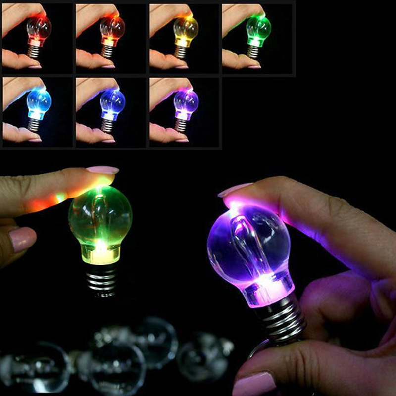 LED Bulb Keychain Pendant Mini Bulbtorch Keyring Flash Light Lamp HUG-Deals