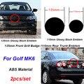2 шт./компл. для игры в гольф  MK6 135 мм 110 мм АБС автомобиля Передняя голова капот или задний бампер на крышке багажника знак эмблемы автомобиля ...