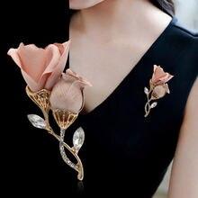 Корейский высококачественный тканевый цветок брошь для женщин