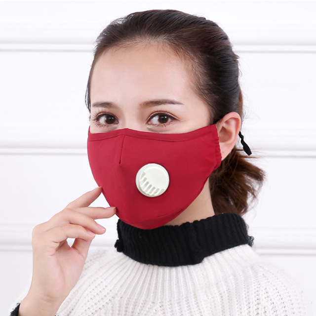 Security Pm2 .5 Anti Fog Mask Washable Anti Haze Mask Activated Filter Respirator Mouth Muffle 2