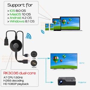 Image 5 - Aun sem fio hd dongle, sem fio mesma tela. mesmo telefone de tela, computador. conexão de suporte tv. projetor. monitor (entrada hd)
