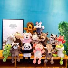 30CM Children Animal Hand Puppet Toy Cartoon Cute Plush Elephant Turtle Giraffe Puppet Toy Hand Doll Storytelling Education Toy